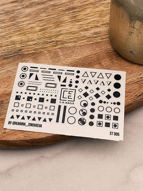 ST-005 стикер на ногти для дизайна