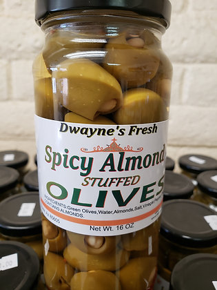 Spicy Almond Stuffed Olives