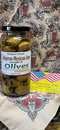 Jalapeno Mexican Lime Stuffed Olives
