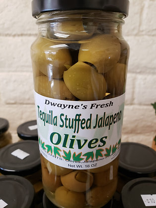 Tequila Jalapeno Stuffed Olives