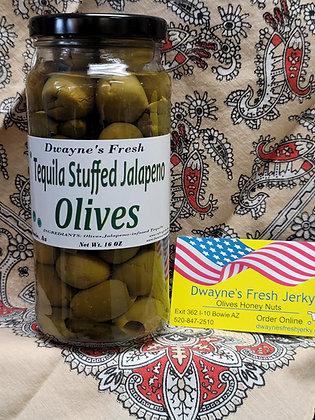 Tequila Stuffed Olives
