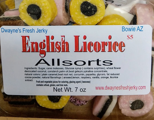 English Licorice Allsorts