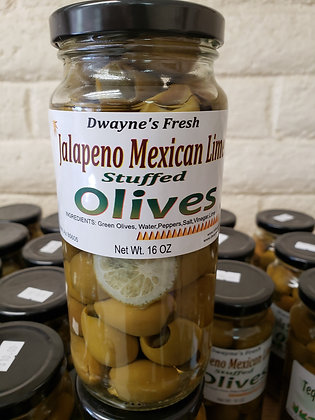 Jalapeno Stuffed Mexican LIME Olives
