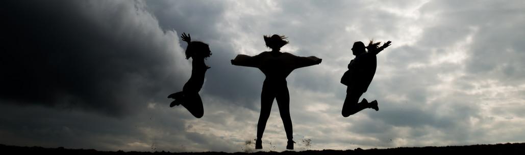 Vriendinnenfotografie silhouette