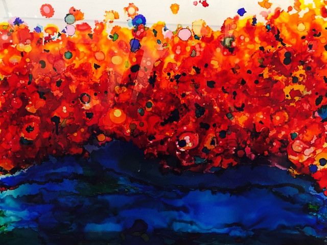 Fire ove the Ocean, 36X48