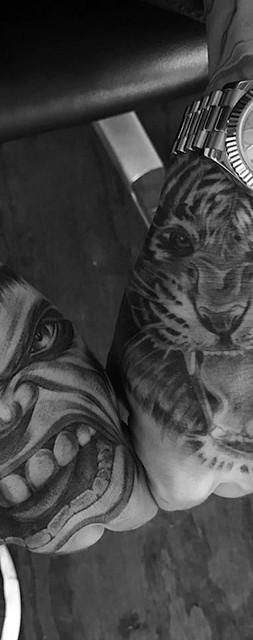 hulk tiger tattoo