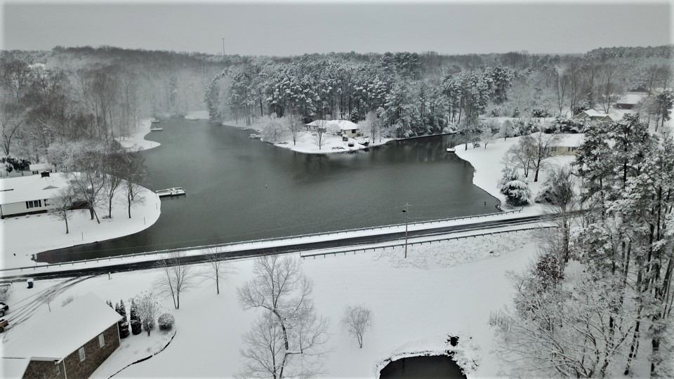 Snow at Lake Shore