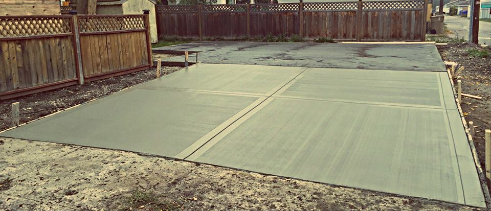 Garage pad and apron