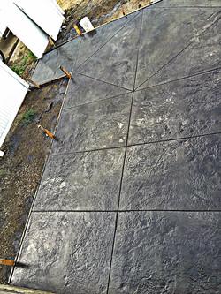 Belgium slate stamped patio