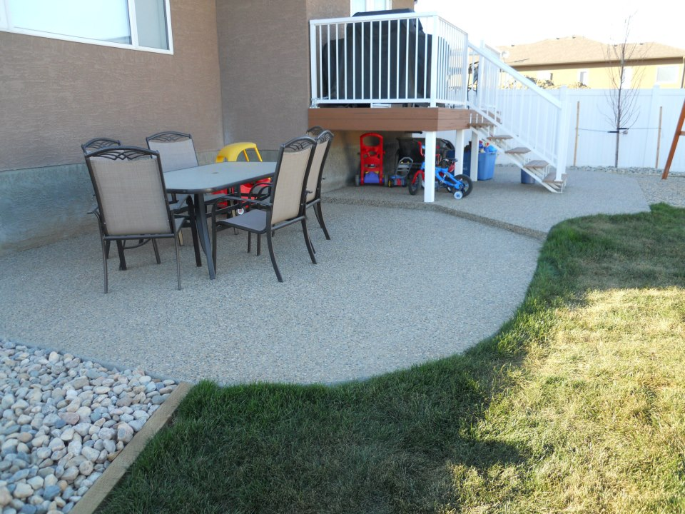 Exposed patio