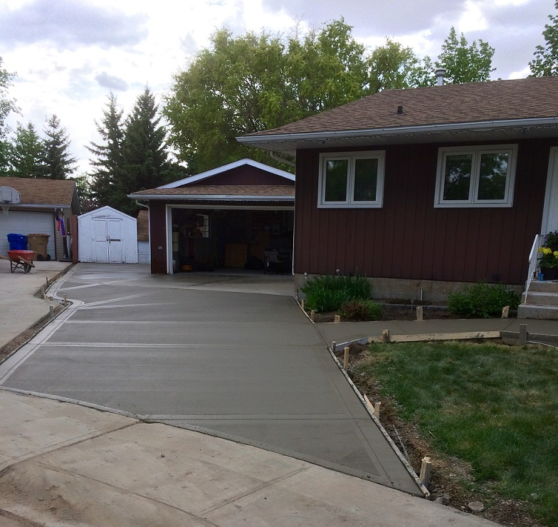 Broom finish driveway replacement