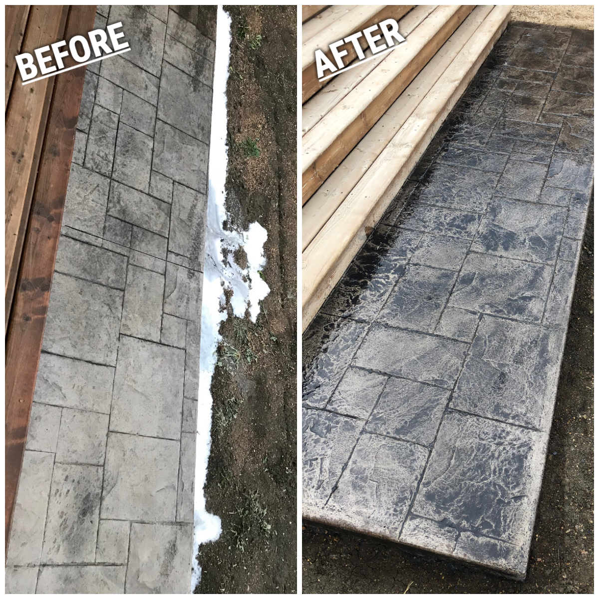 Stamped Concrete rejuvenation