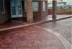 Fieldstone stamped concrete patio