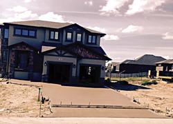 1600 sq ft broom finish driveway