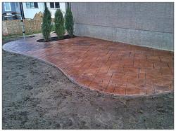 Cali slate stamped concrete patio