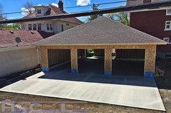 Concrete driveway and shop pad