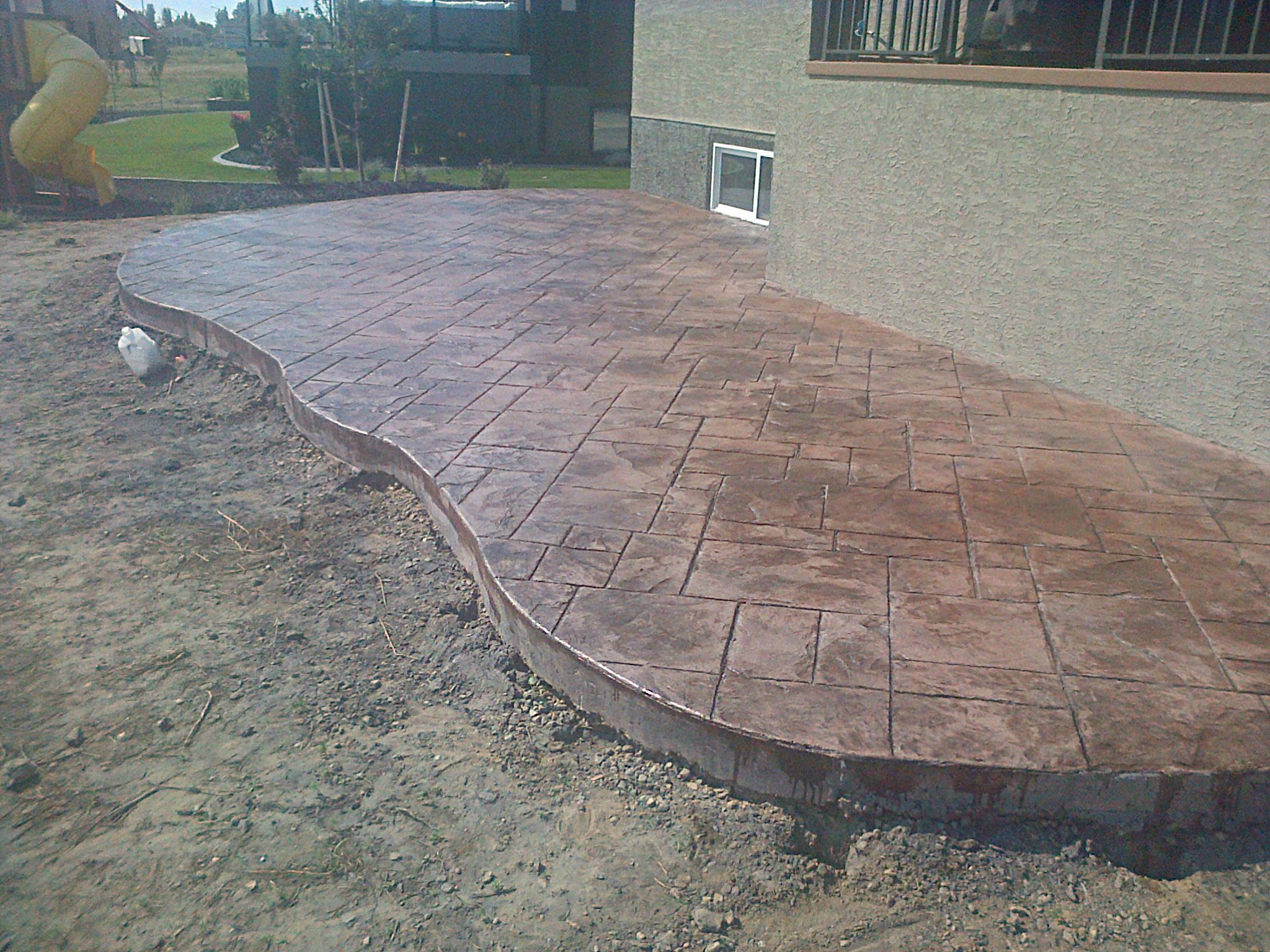 Cali slate stamped concrete patio