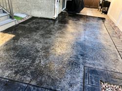 Stamped Concrete patio.