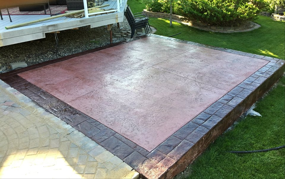 Custom stamped patio