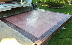 Custom stamped patio