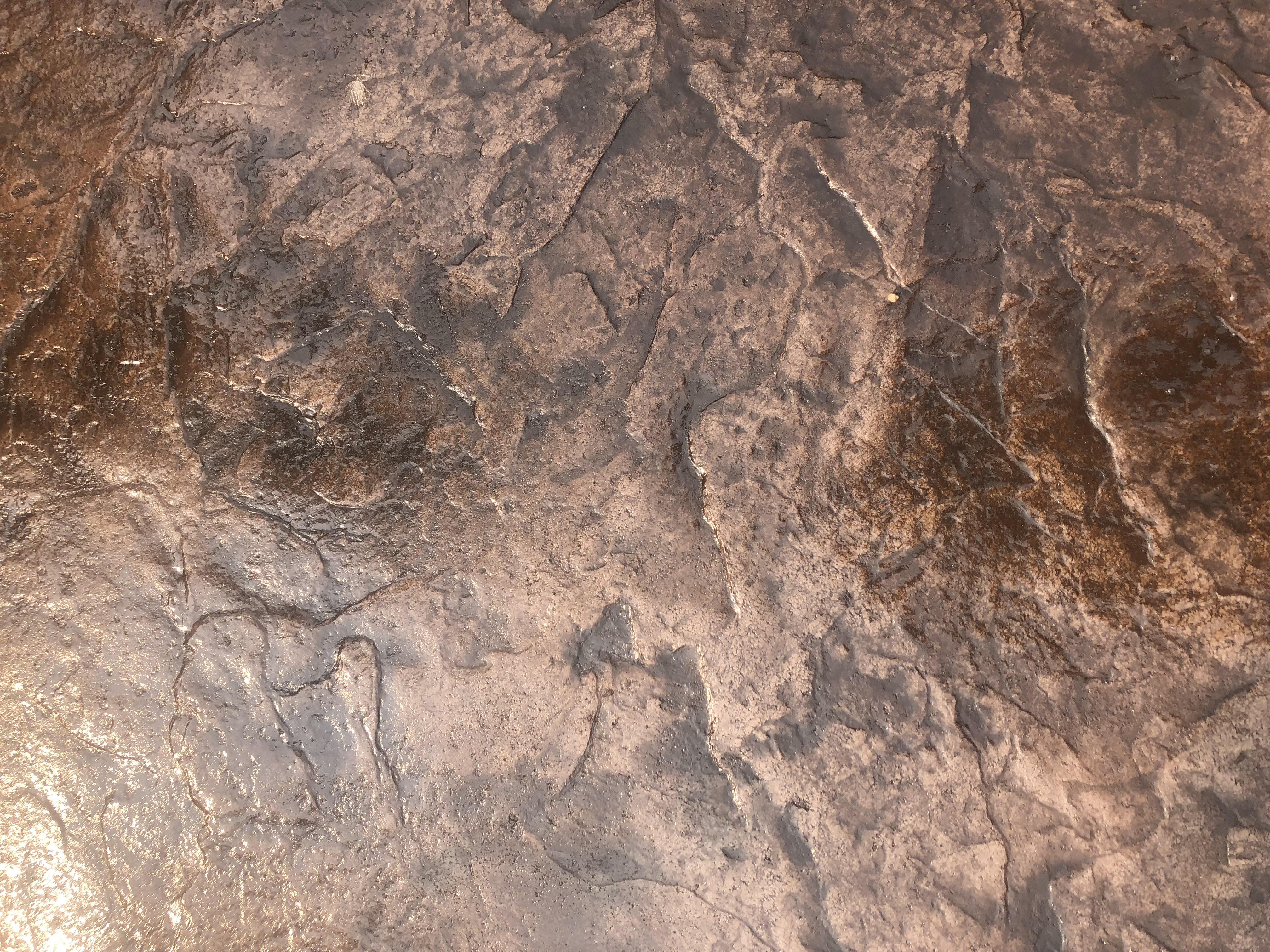 Roman slate stamped concrete