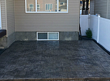 Adding Resale Value to your home with a Concrete patio!
