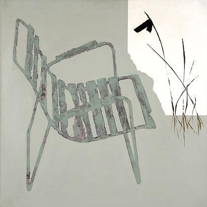 """Maleri af Erling Gregers kaldet """"Min havestol"""""""