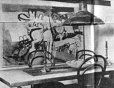 Spisestuen i kunstnerhjemmet 1965