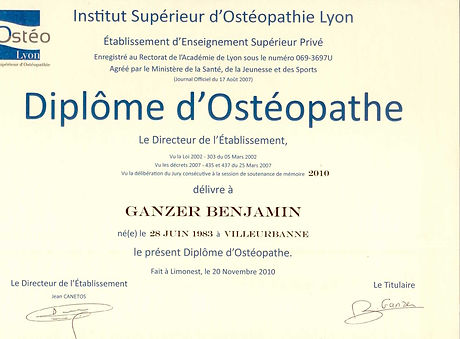 diplome osteopathe, iso, genay, lombard ganzer DO