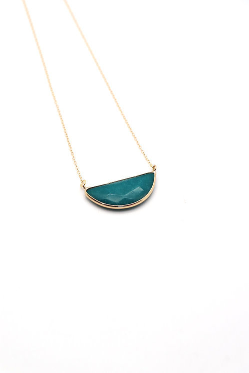 STATEMENT TEAL NECKLACE