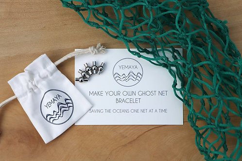MAKE YOUR OWN GHOST NET BRACELET KIT CLASPS ONLY