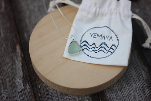 SEA FOAM SEA GLASS PENDANT