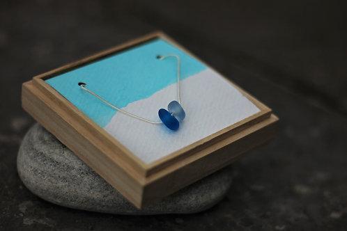 PURPLE BLUE & LILAC DOUBLE SEA GLASS NECKLACE