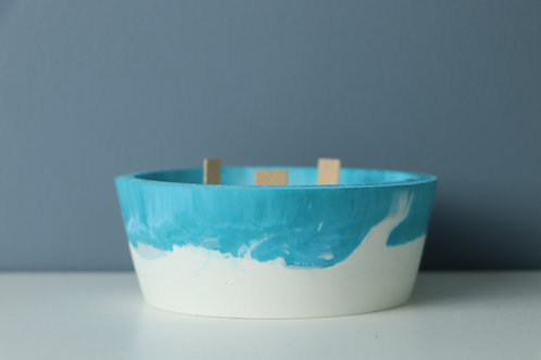 TURQUOISE CANDLE/PLANTER SMALL 2