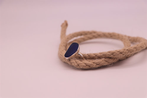 BLUE SEA GLASS RING US SIZE 10
