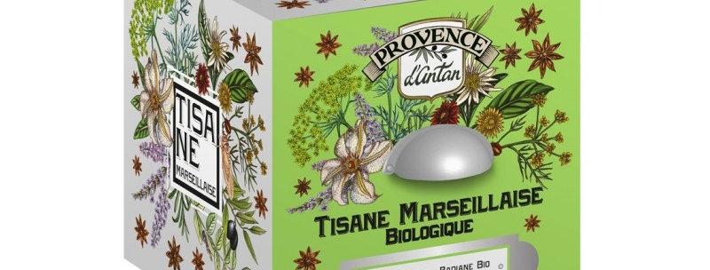 Tisane Marseillaise Bio - 24 sachets. Boîte métal