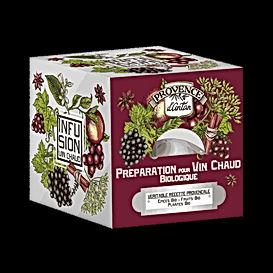 Infusion Préparation pour Vin Chaud Biologique. 24 sachets Boîte métal