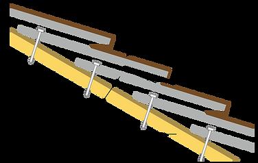 スレート屋根の断面イメージ