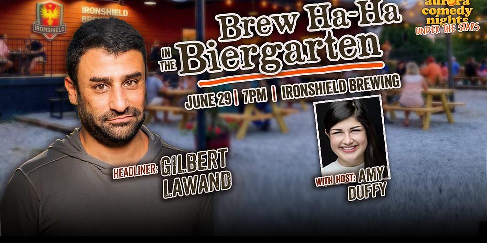 BREW HA-HA IN THE BIERGARTEN: Gilbert Lawand