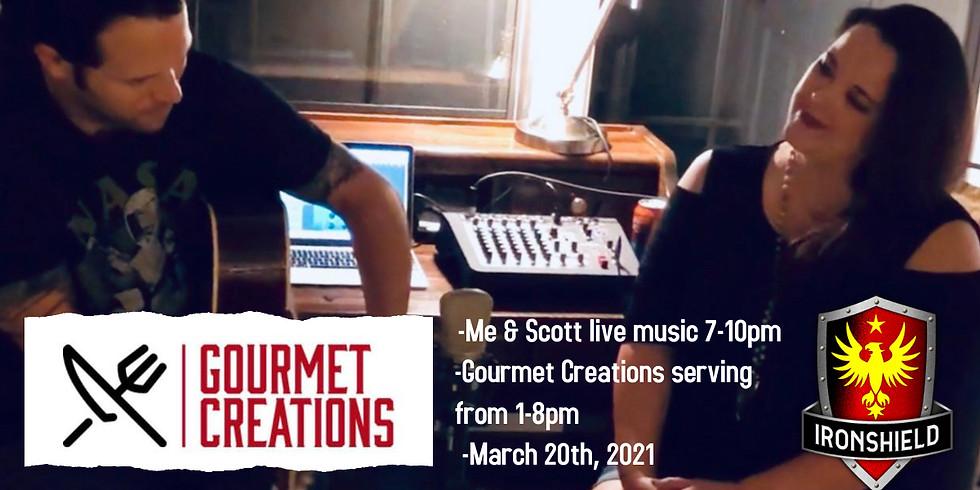 Me & Scott Live Music & Gourmet Creations Food Truck
