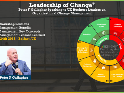 Peter F Gallagher Speaking to UK Business Leaders on Organisational Change Management - Belfast