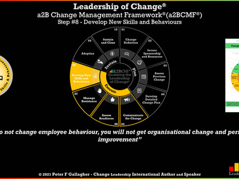a2B Change Management Framework® (a2BCMF®) - Step #8: Developing New Skills and Behaviours