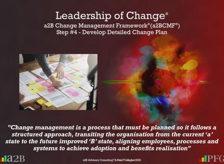 a2B Change Management Framework® (a2BCMF®) Step #4