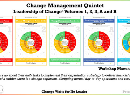 Change Management Book Quintet: Leadership of Change® Volumes 1 2, 3, A & B