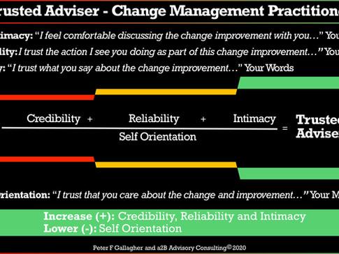 Trusted Adviser - Change Management Practitioner