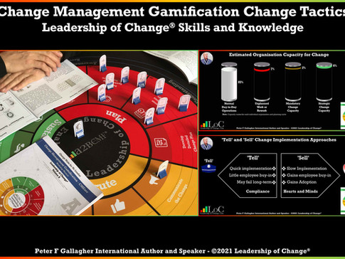 Change Management Gamification  Leadership - Choose Your Change Tactic