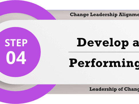 Change Leadership Alignment Process Step 4: Develop a High Performing Team