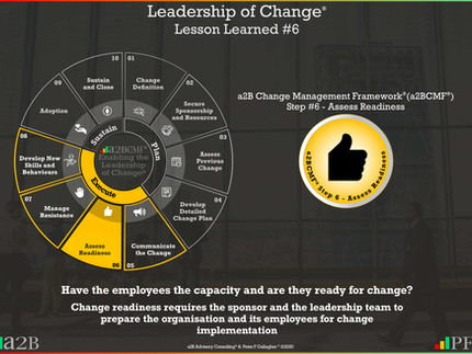 Leadership of Change® - #6 Lesson Learned