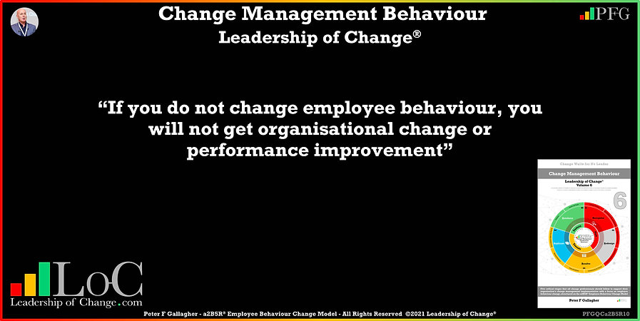 Change Management Behaviour Quotes, Change Management Quotes, Peter F Gallagher, If you do not change employee behaviour, Peter F Gallagher Change Management Experts, Peter F Gallagher Change Management Global Thought Leaders, change management behaviour book, Leadership of Change, Employee Behaviour Change, Change Management Expert Speaker thought leader,