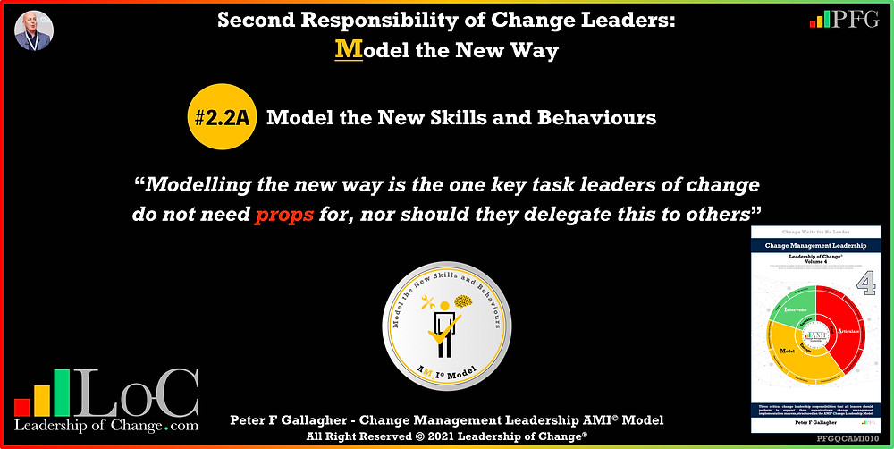 Change Management Leadership Quotes, Change Management Quotes Peter F Gallagher, Modelling the new way of working is the one key task leaders of change do not need props for nor can they delegate, change management experts, change management speakers, change management global thought leaders, leadership of change, change management quotes, change leadership, Change Management Leadership Handbook,
